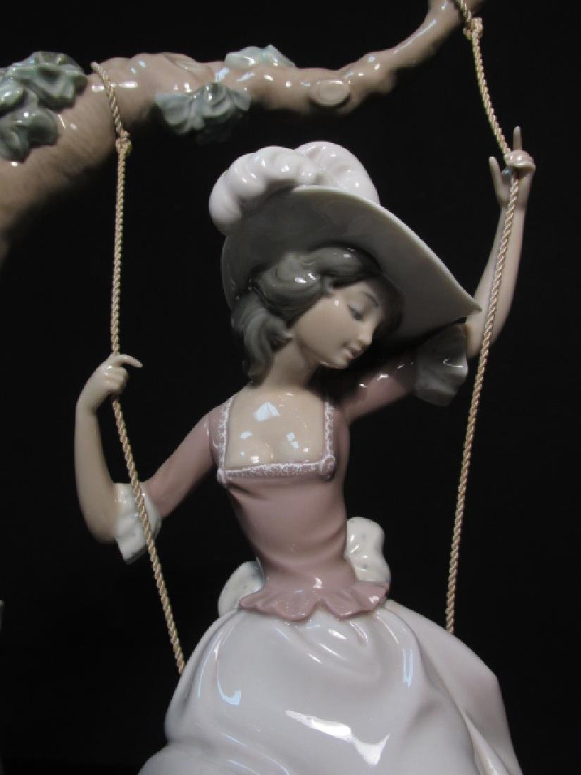 "LLADRO ""VICTORIAN GIRL ON A SWING"" FIGURINE #1297 - 2"