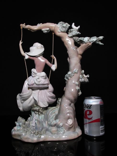"LLADRO ""VICTORIAN GIRL ON A SWING"" FIGURINE #1297 - 6"