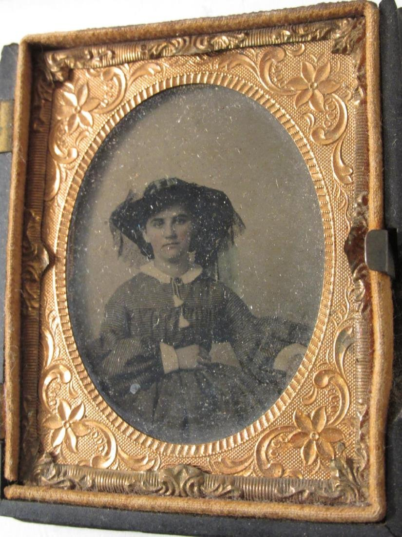 ASSORTED DAGUERREOTYPES & THERMOPASTIC UNION CASES - 10