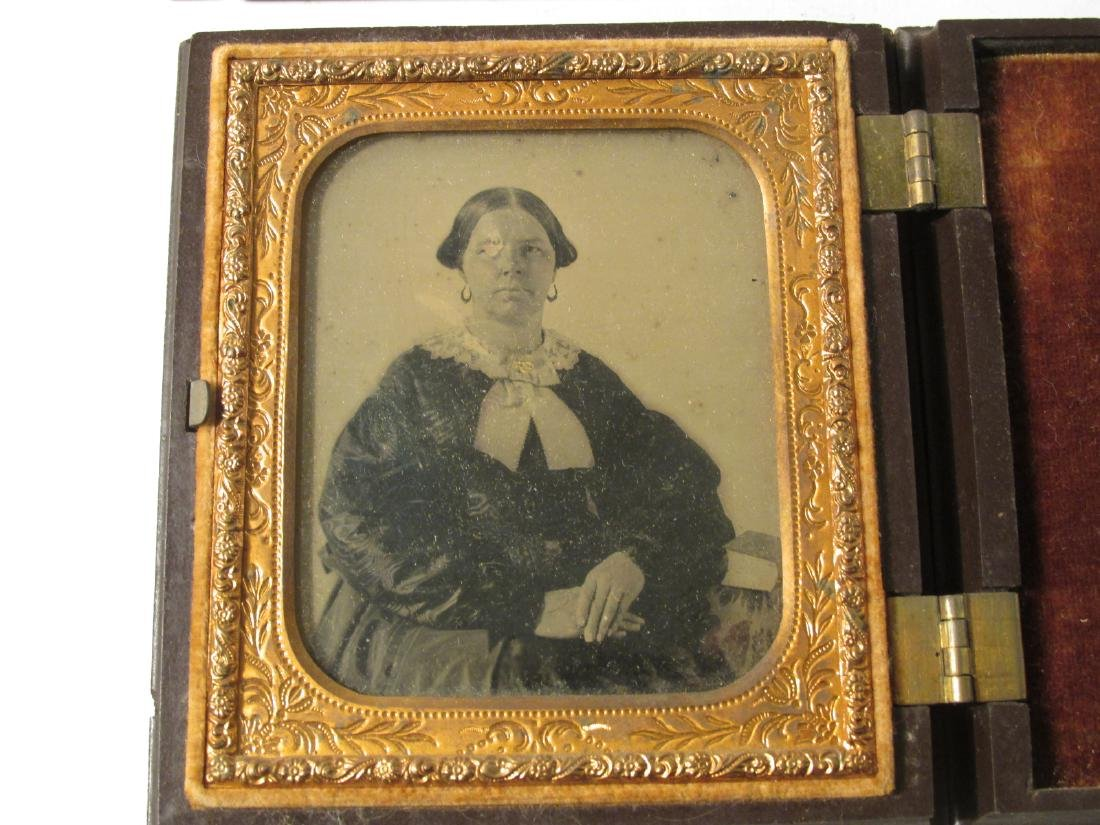 ASSORTED DAGUERREOTYPES & THERMOPASTIC UNION CASES - 2
