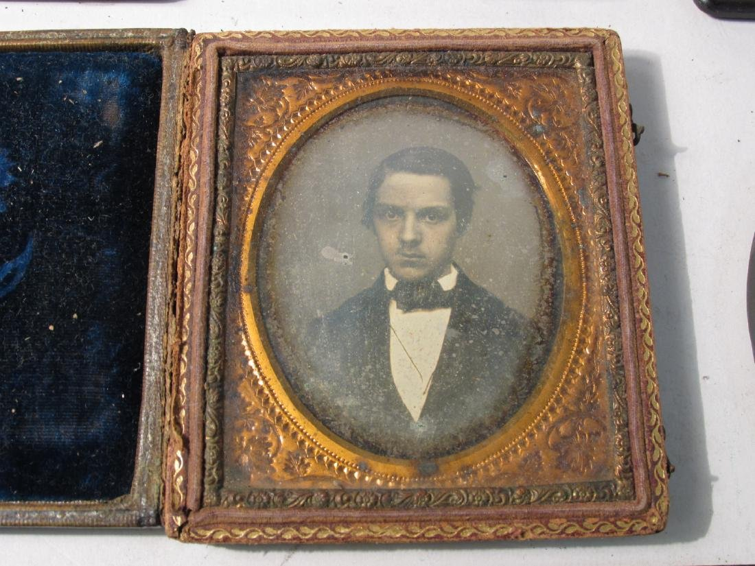 ASSORTED DAGUERREOTYPES & THERMOPASTIC UNION CASES - 8