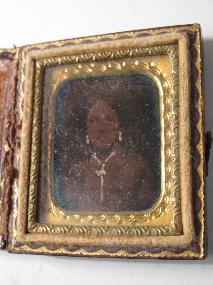 ASSORTED DAGUERREOTYPES & THERMOPASTIC UNION CASES - 9