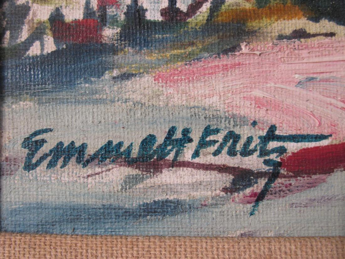 SMALL EMMETT JOHN FRITZ OIL ON CANVASBOARD PAINTIN - 5