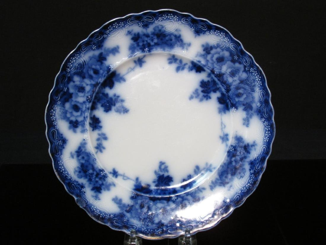 ASSORTED FLOW BLUE CERAMICS: PLATES, TUREEN, ETC. - 5