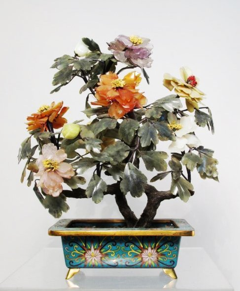 CHINESE/JAPANESE LOT: JADE TREE, SATSUMA, ETC 6 PC - 9