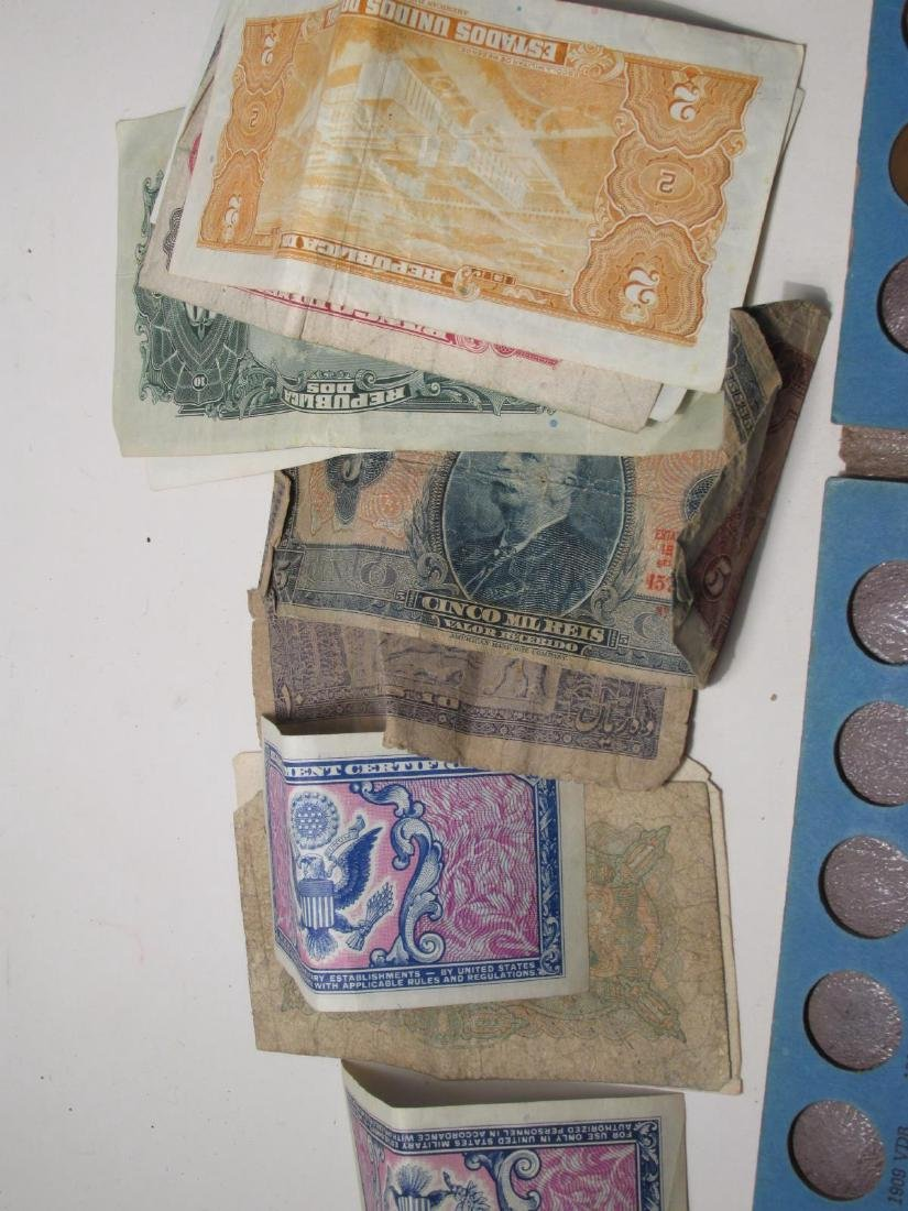 ASSORTED VINTAGE FOREIGN CURRENCY: FRANCS, YEN etc - 6