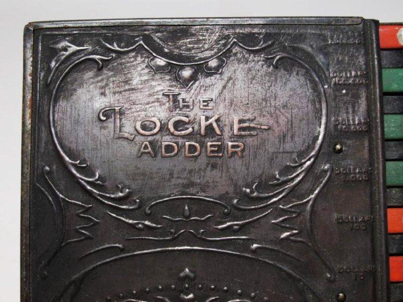 """C.E. LOCKE """"THE LOCKE ADDER"""" ANTIQUE TIN CALCULATO - 2"""