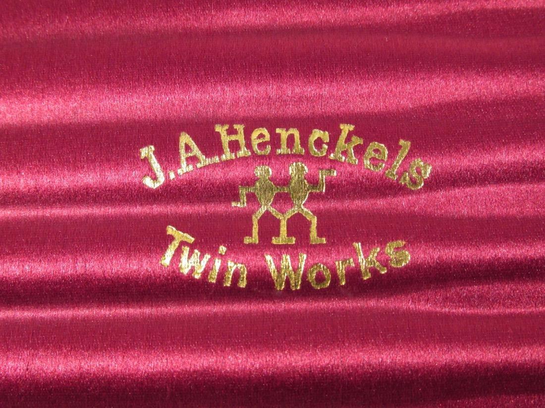 VINTAGE J.A. HENCKELS 7 DAY STRAIGHT RAZOR SET - 3