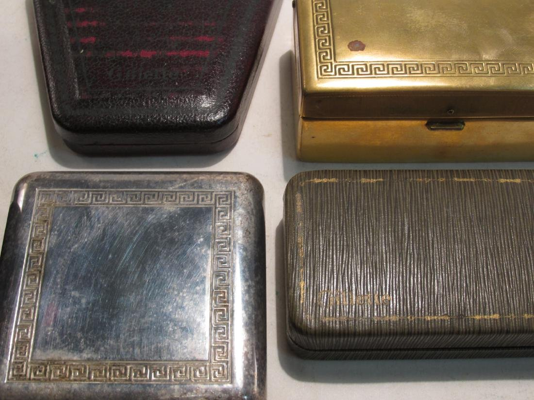 SIX VINTAGE GILLETTE DE SAFETY RAZORS: BOSTONIAN - 10