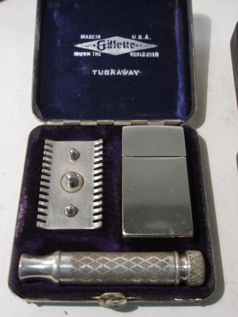 SIX VINTAGE GILLETTE DE SAFETY RAZORS: BOSTONIAN - 7