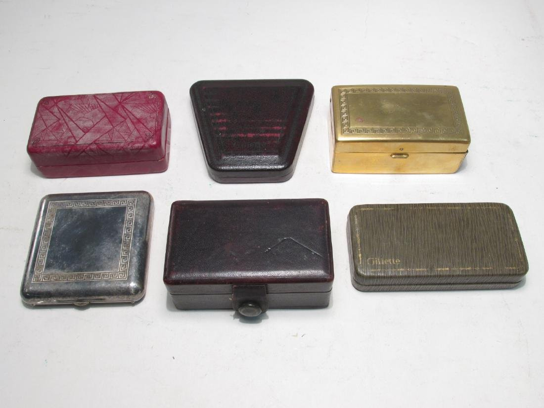 SIX VINTAGE GILLETTE DE SAFETY RAZORS: BOSTONIAN - 8
