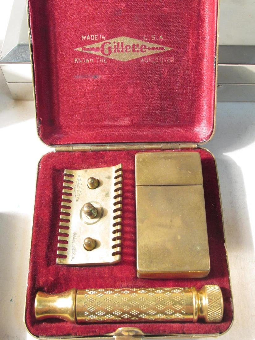 SIX VINTAGE GILLETTE COLLECTABLE SAFETY RAZORS - 3