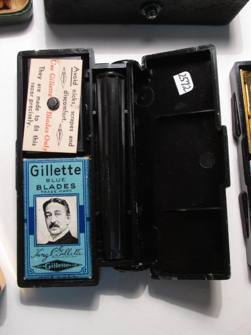 SEVEN ASSORTED VINTAGE GILLETTE SAFETY RAZORS - 7