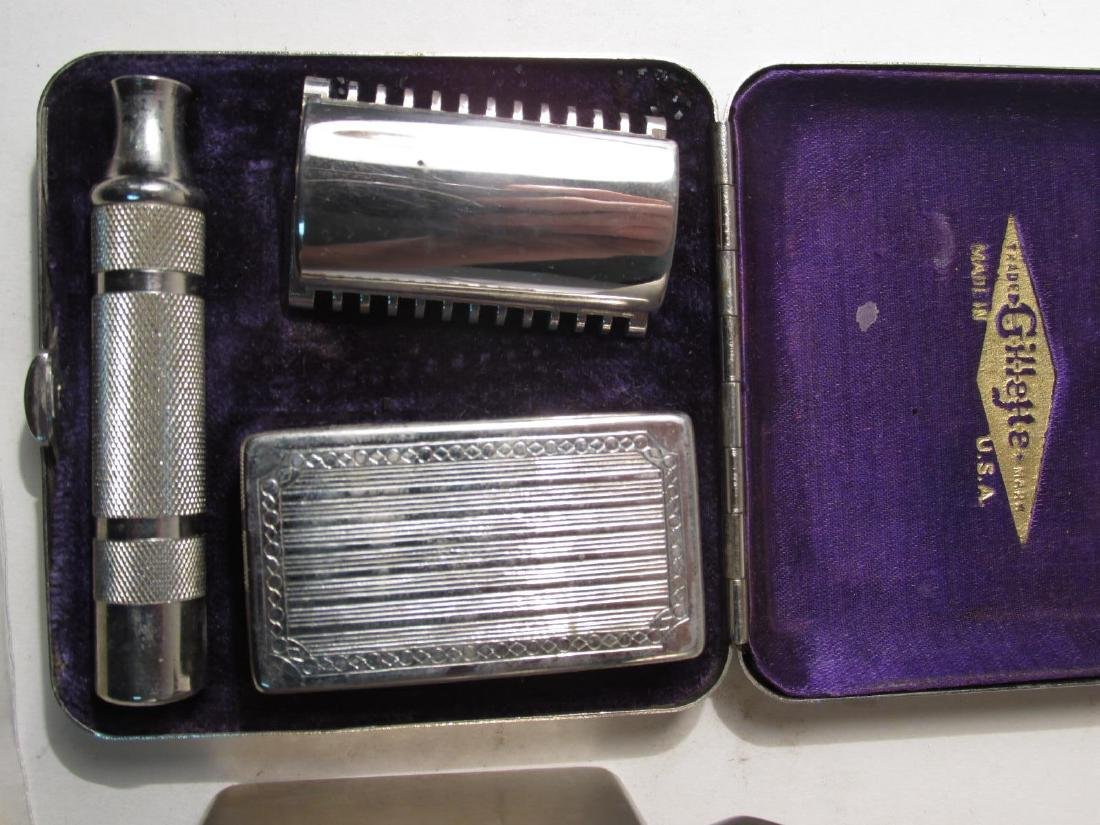 FIVE VINTAGE GILLETTE COLLECTABLE SAFETY RAZORS - 2