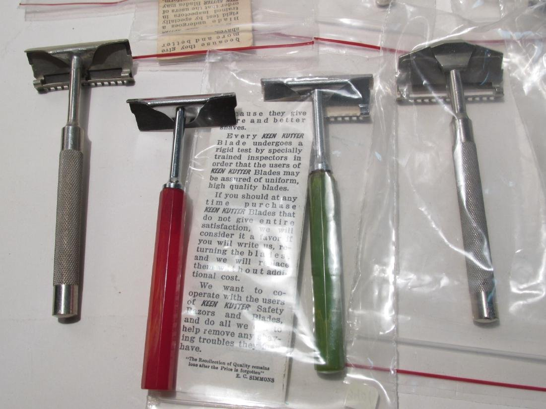 COLLECTION ASSORTED KEEN KUTTER SE SAFETY RAZORS - 8