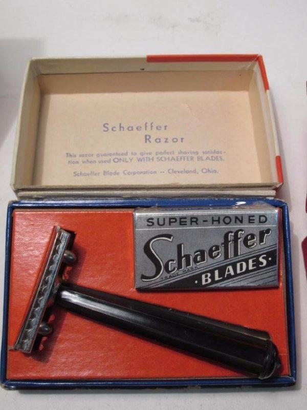 SEVEN VINTAGE BOXED SAFETY RAZORS: DIME, SCHAEFFER - 3