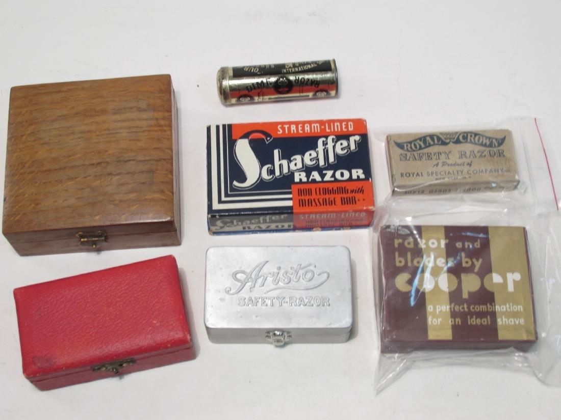 SEVEN VINTAGE BOXED SAFETY RAZORS: DIME, SCHAEFFER - 9