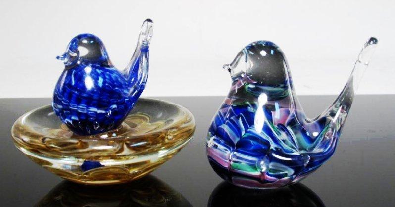 THIRTEEN ART GLASS PAPERWEIGHTS: JOE RICE, ETC. - 3