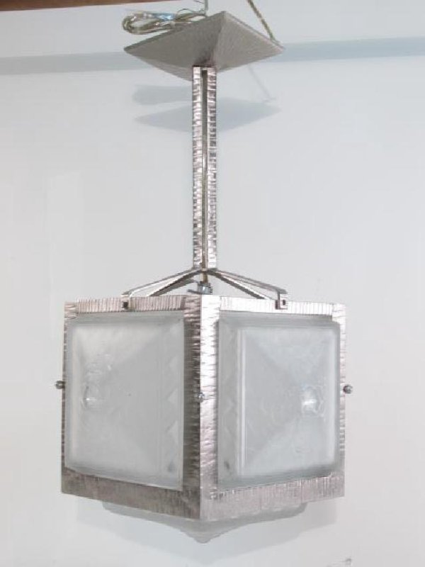 MULLER FRERES FRENCH ART DECO FROSTED GLASS LIGHT
