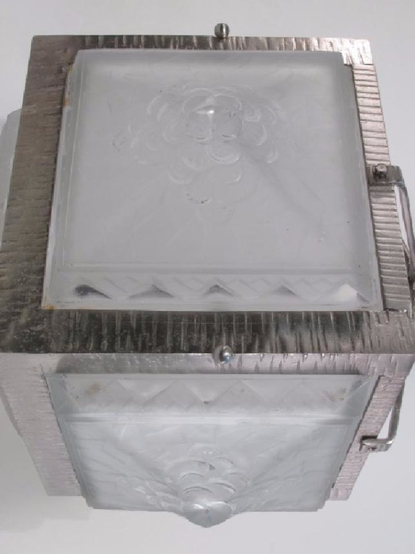 MULLER FRERES FRENCH ART DECO FROSTED GLASS LIGHT - 5