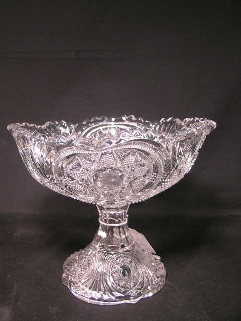 355: PATTERN GLASS CENTERPIECE OR PUNCH BOWL ON STEM