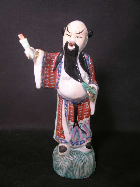 361: ORIENTAL STYLE PORCELAIN HAND PAINTED FIGURE