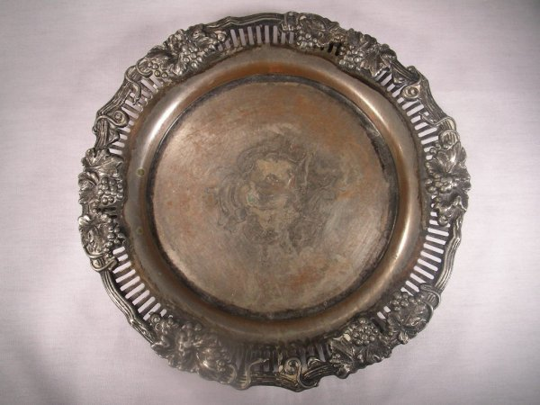 6: ANTIQUE SHEFFIELD SILVER ON COPPER CARD TRAY SALVER