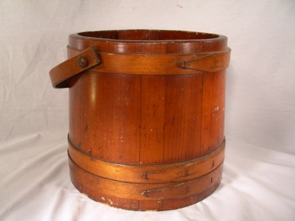 404: SHAKER TYPE WOODEN GRAIN BUCKET STRAP HANDLE