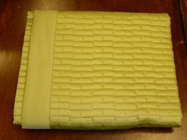 809: HOME TREASURES QUILTED EURO SHAM