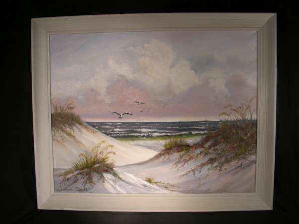 821: PAINTING SEASCAPE AND DUNES LETHIA SMITH