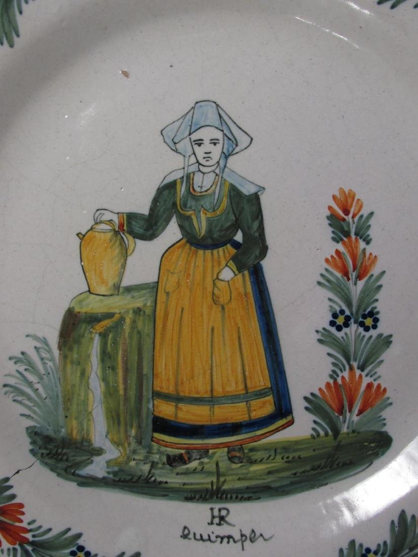TWO EARLY 20TH C HENRIOT QUIMPER PLATES - 3