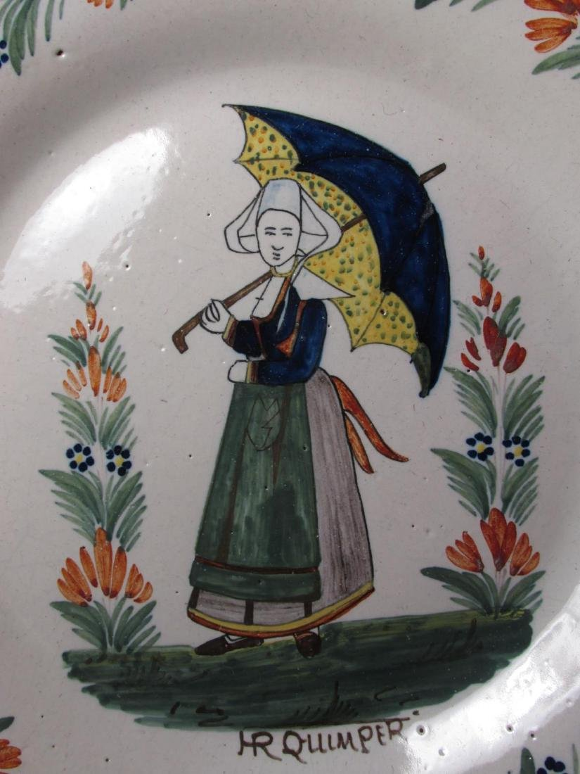 TWO EARLY 20TH C HENRIOT QUIMPER PLATES - 4