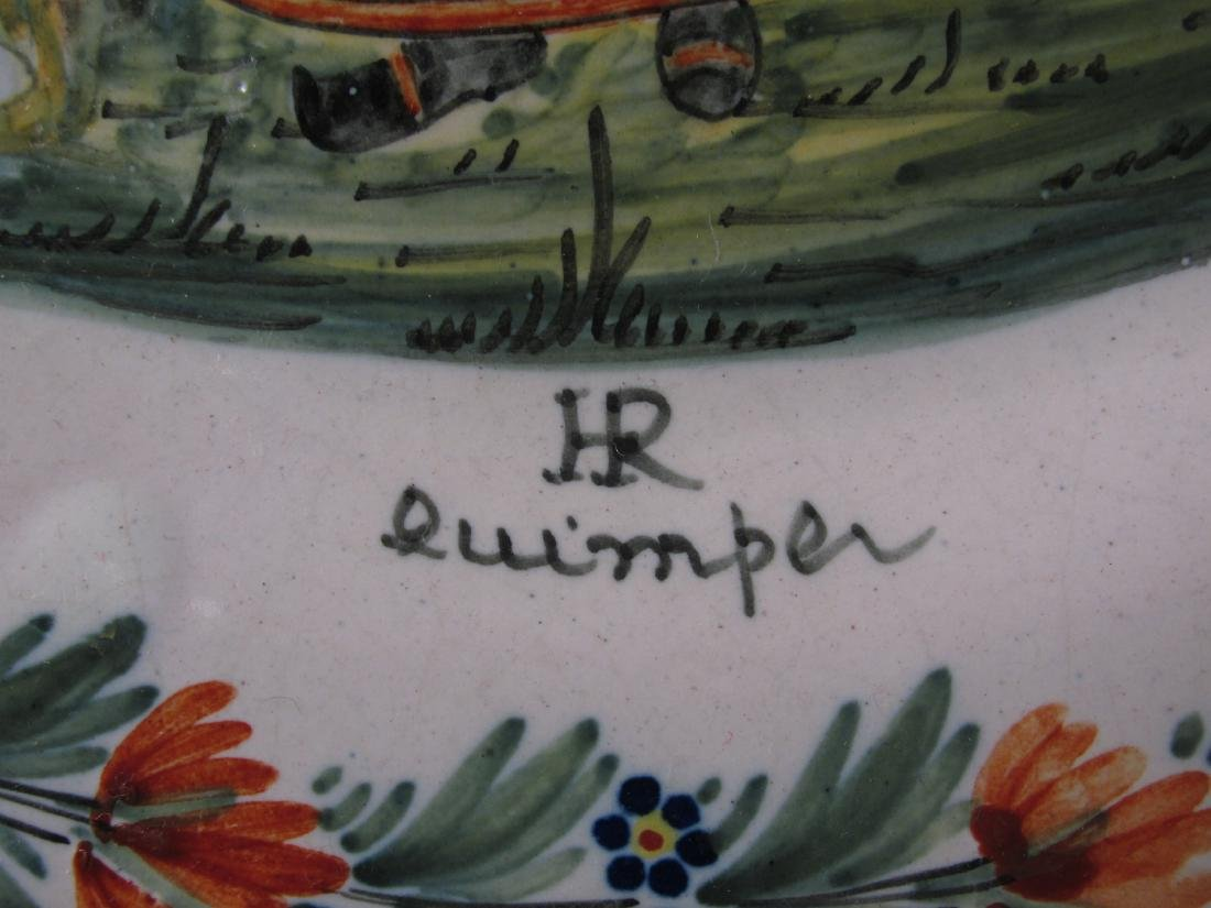 TWO EARLY 20TH C HENRIOT QUIMPER PLATES - 5