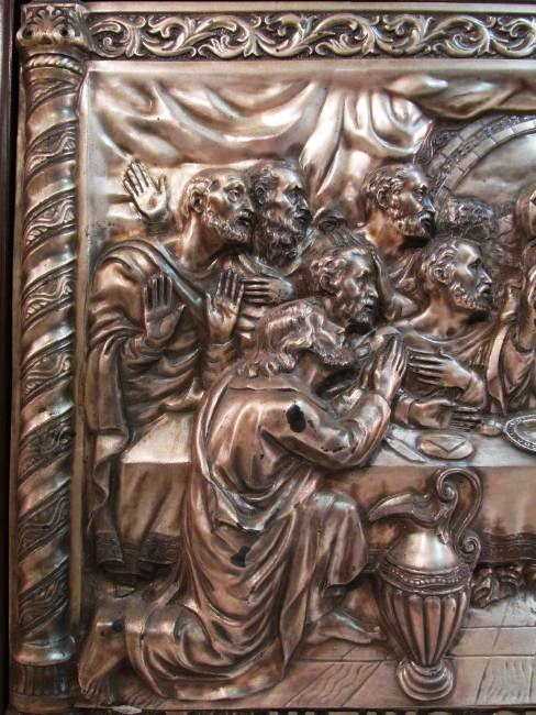 VINTAGE RELIGIOUS EMBOSSED & SILVER PLATED PLAQUE - 2