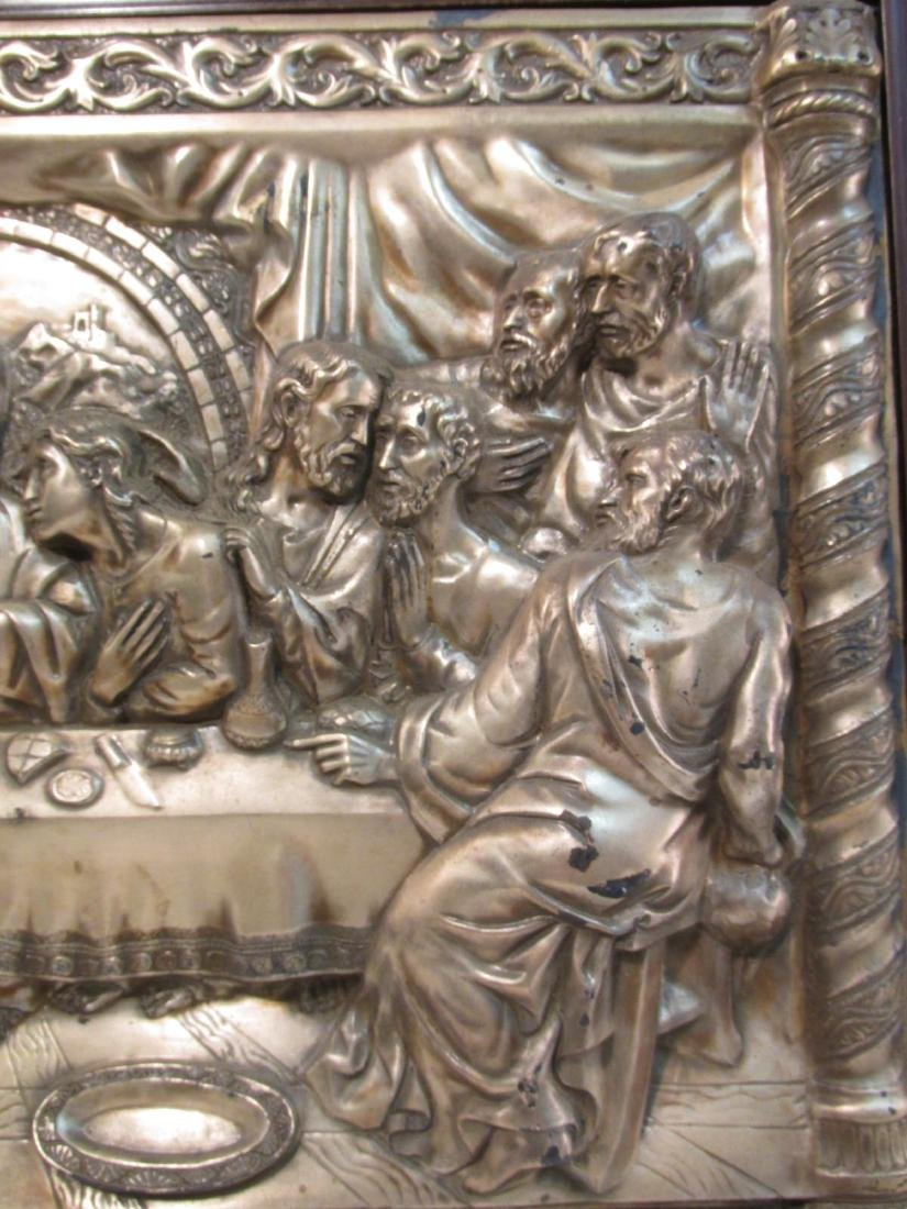 VINTAGE RELIGIOUS EMBOSSED & SILVER PLATED PLAQUE - 4