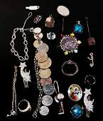 ASSORTED VICTORIAN  OTHER VINTAGE JEWELRY STERLIN