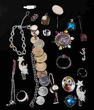 ASSORTED VICTORIAN & OTHER VINTAGE JEWELRY STERLIN