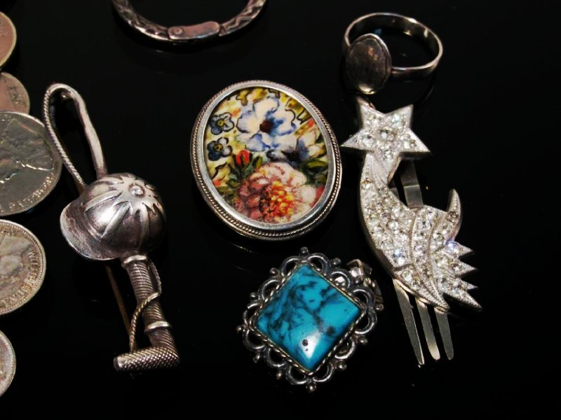 ASSORTED VICTORIAN & OTHER VINTAGE JEWELRY STERLIN - 2