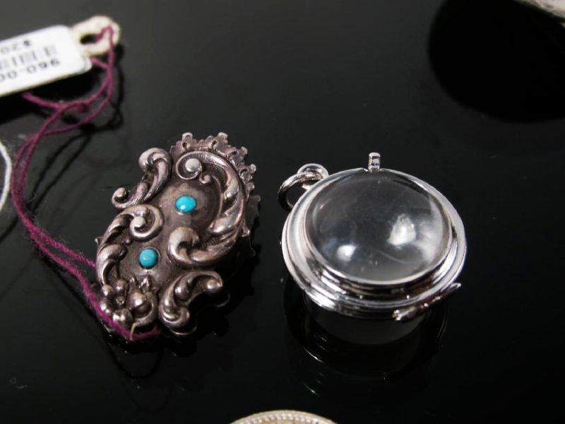 ASSORTED VICTORIAN & OTHER VINTAGE JEWELRY STERLIN - 5