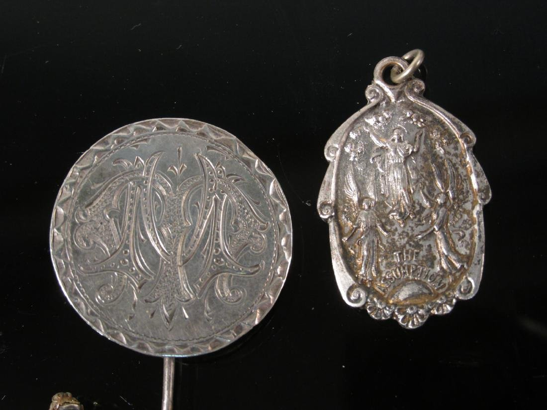 ASSORTED VICTORIAN & OTHER VINTAGE JEWELRY STERLIN - 6