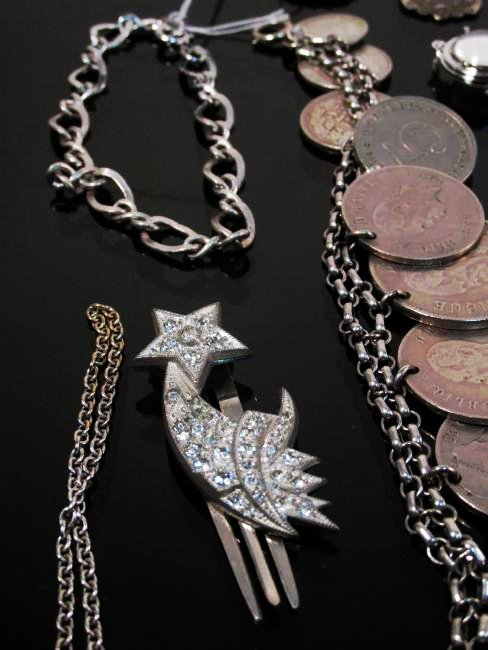 ASSORTED VICTORIAN & OTHER VINTAGE JEWELRY STERLIN - 9