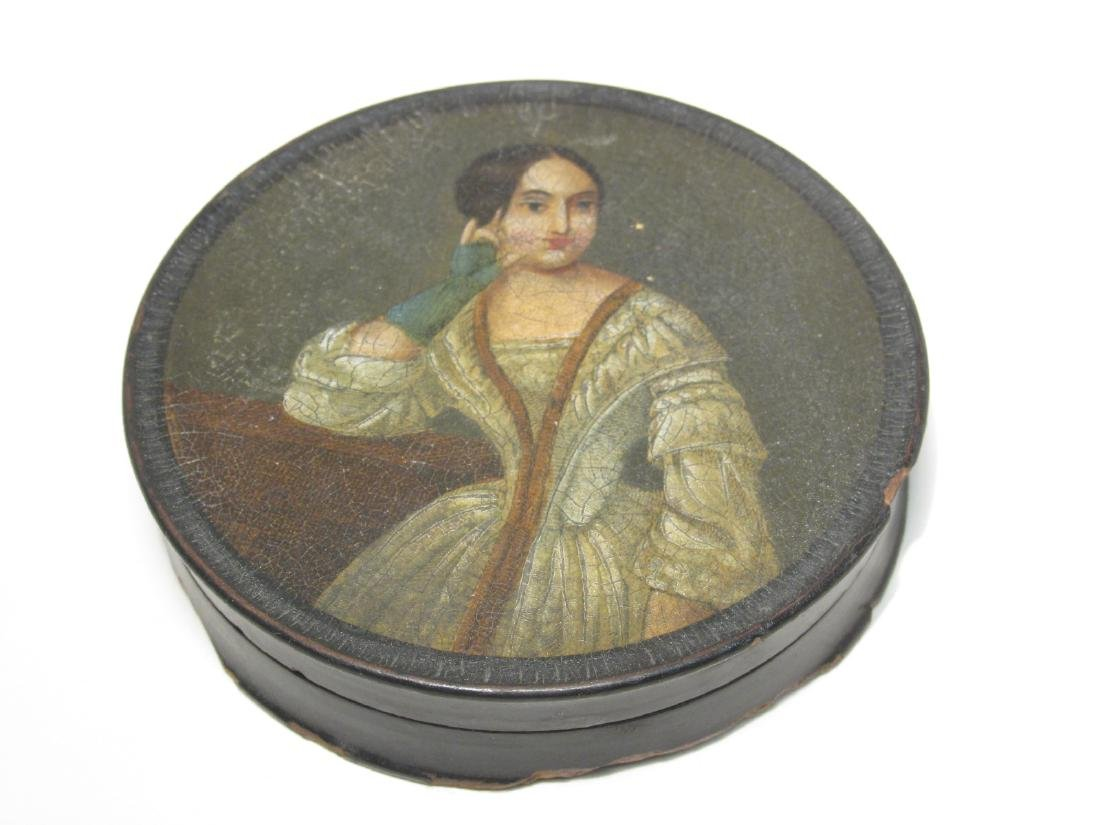 EARLY 19TH CENTURY HAND PAINTED PORTRAIT SNUFF BOX