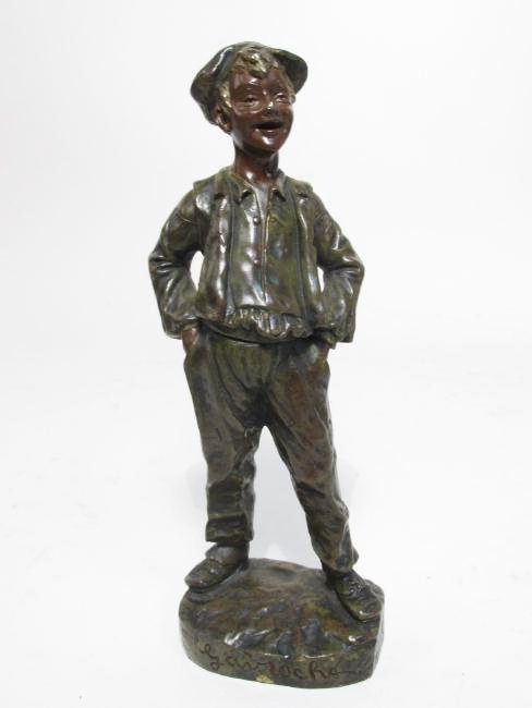 "GEORGES OMERTH BRONZE SCULPTURE""GAVROCHE"""