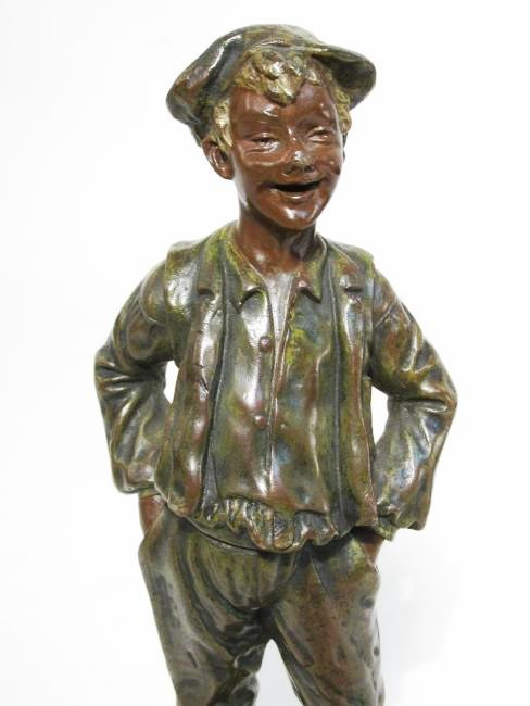 "GEORGES OMERTH BRONZE SCULPTURE""GAVROCHE"" - 2"
