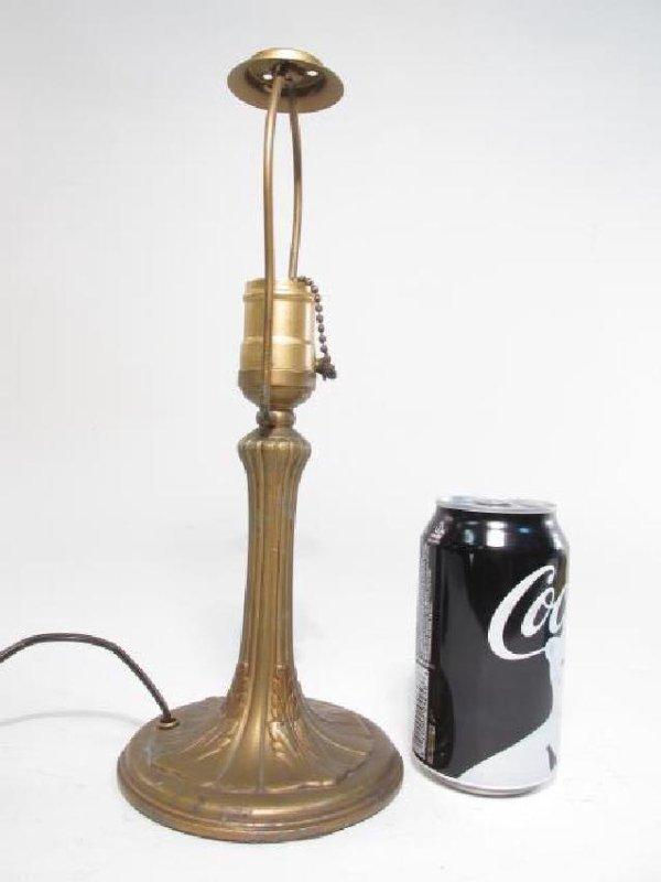 ANTIQUE HANDEL STYLE LAMP COMPANY BRONZE LAMP BASE - 3
