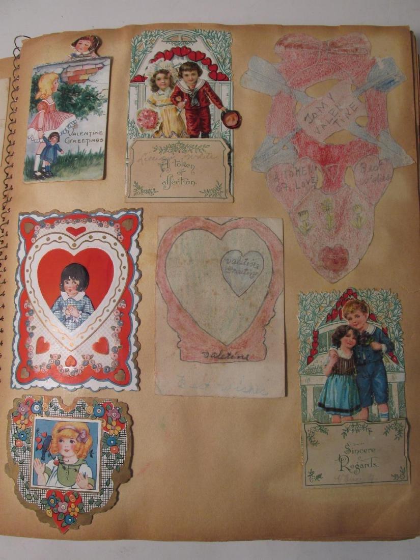 EARLY 20TH CENTURY SCRAPBOOK: VALENTINES, EPHEMERA - 2