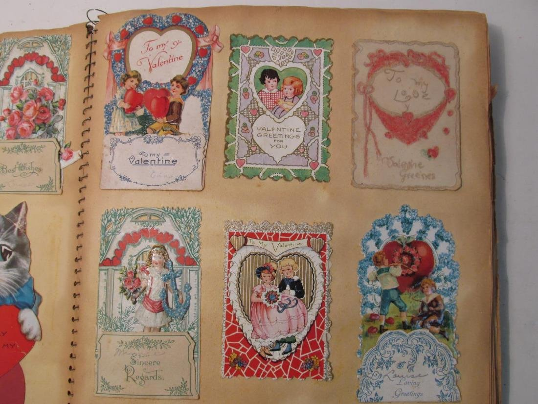 EARLY 20TH CENTURY SCRAPBOOK: VALENTINES, EPHEMERA - 3