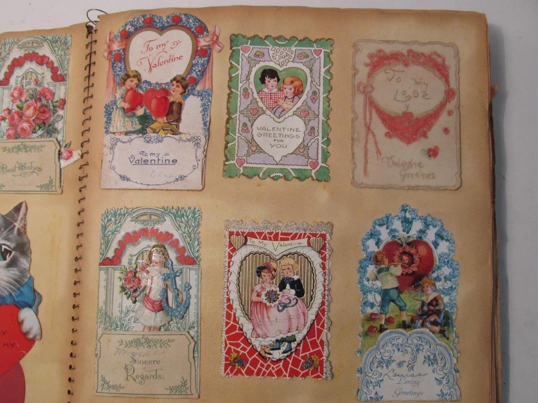EARLY 20TH CENTURY SCRAPBOOK: VALENTINES, EPHEMERA - 3