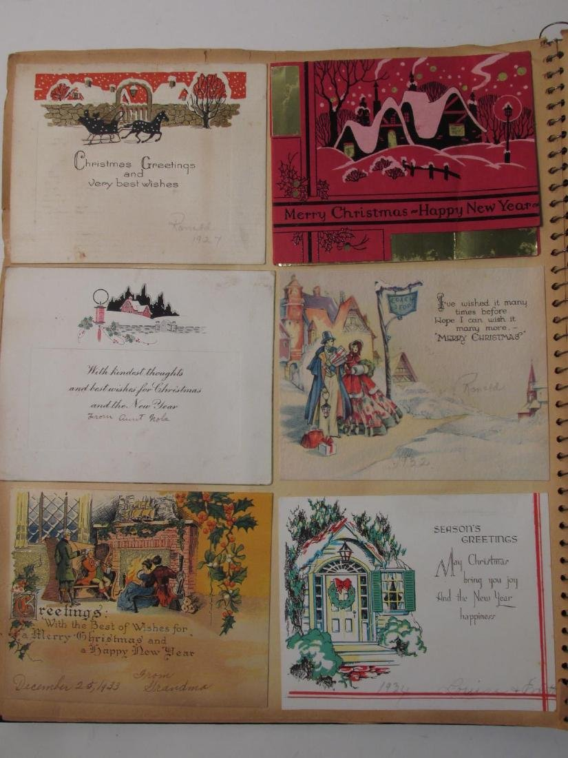 EARLY 20TH CENTURY SCRAPBOOK: VALENTINES, EPHEMERA - 5