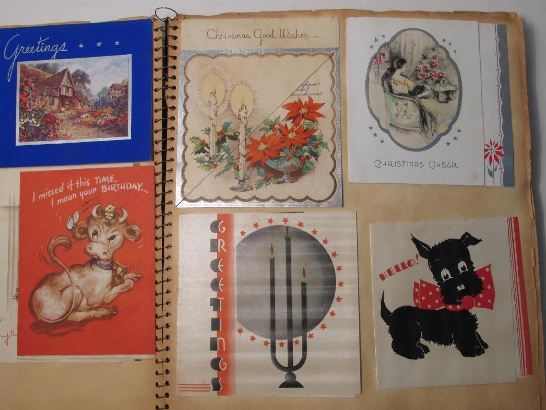 EARLY 20TH CENTURY SCRAPBOOK: VALENTINES, EPHEMERA - 6